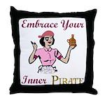 Inner Pirate Throw Pillow