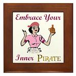 Inner Pirate Framed Tile