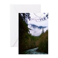 Misty Nooksack River Greeting Card