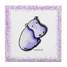 KiniArt HIPPO Tile Coaster
