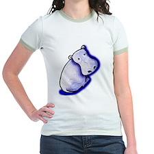KiniArt HIPPO Jr. Ringer T-shirt