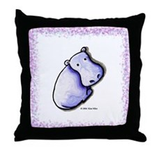 KiniArt HIPPO Throw Pillow