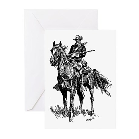 Old Bill Cavalry Mascot Greeting Cards (Pk of 10)