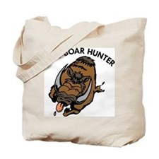Wild Boar Hunter Tote Bag