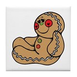 Happy Gingerbread Man Tile Coaster