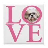Shih Tzu Love - Tile Coaster