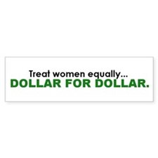Equal Pay Bumper Bumper Sticker