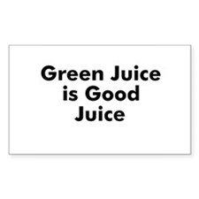 Green Juice is Good Juice Rectangle Decal