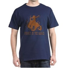 Firmly in the saddle. T-Shirt