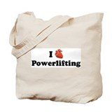 I (Heart) Powerlifting Tote Bag