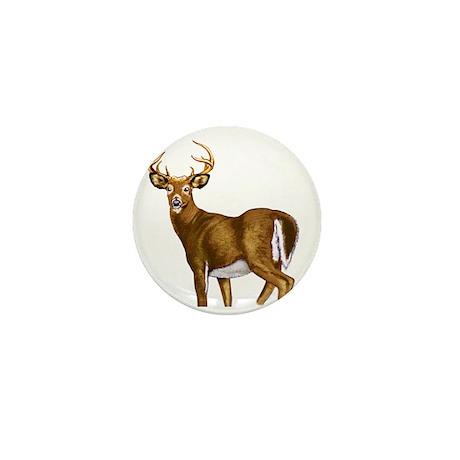 American White Tail Deer Buck Mini Button