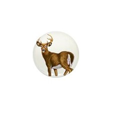 American White Tail Deer Buck Mini Button (10 pack