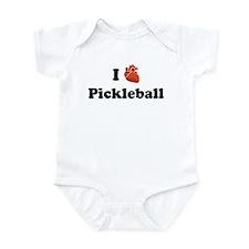 I (Heart) Pickleball Infant Bodysuit