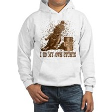 Horse barrel racing. Stunts. Hoodie