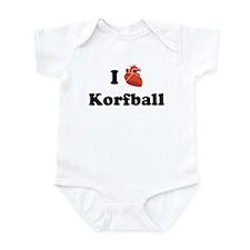 I (Heart) Korfball Infant Bodysuit