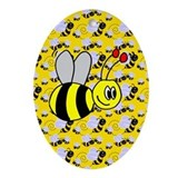 Bumble Bee Oval Ornament