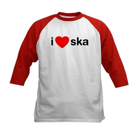 I Heart Ska Kids Baseball Jersey