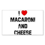 I * Macaroni And Cheese Rectangle Decal