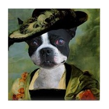 Boston Terrier RUBENS Tile Coaster