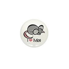 I Love Mice Mini Button (10 pack)