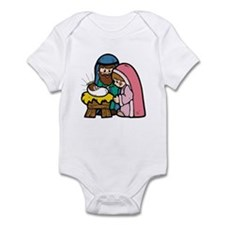 Cute Nativity Scene Infant Bodysuit