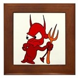 Red Devil Framed Tile