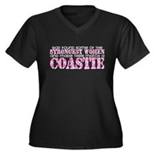 Strongest Woman: Coastie Women's Plus Size V-Neck