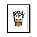 Cute Little Girl Snow Cone Framed Panel Print