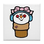 Cute Little Girl Snow Cone Tile Coaster