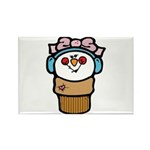 Cute Little Girl Snow Cone Rectangle Magnet (10 pa