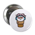Cute Little Girl Snow Cone Button