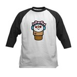 Cute Little Girl Snow Cone Kids Baseball Jersey