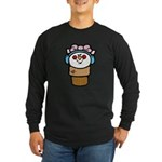 Cute Little Girl Snow Cone Long Sleeve Dark T-Shir