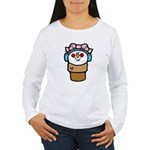 Cute Little Girl Snow Cone Women's Long Sleeve T-S