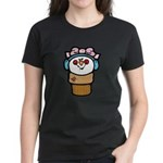 Cute Little Girl Snow Cone Women's Dark T-Shirt