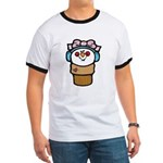 Cute Little Girl Snow Cone Ringer T