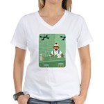 Sock Monkey Bartender Women's V-Neck T-Shirt