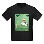 Sock Monkey Bartender Kids Dark T-Shirt