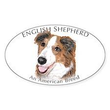 English Shepherd Oval Decal