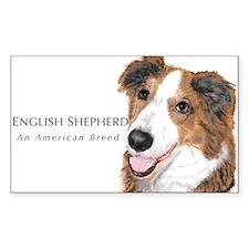 English Shepherd Rectangular Decal