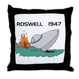Roswell Crash Throw Pillow