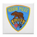 Kodiak Alaska Police Tile Coaster