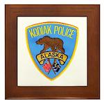 Kodiak Alaska Police Framed Tile