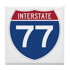 Interstate 77 Tile Coaster