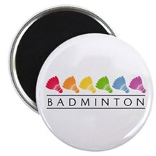 "Rainbow Badminton 2.25"" Magnet (100 pack)"