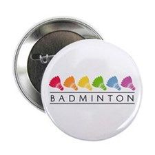 "Rainbow Badminton 2.25"" Button (10 pack)"