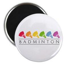 Rainbow Badminton Magnet