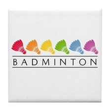 Rainbow Badminton Tile Coaster