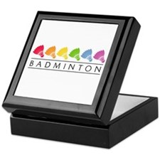 Rainbow Badminton Keepsake Box