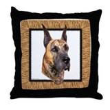Great Dane Brindle HS Throw Pillow